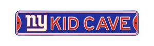 """New York Giants NFL Metal Kid Cave Sign 16"""" X 3.25"""" - New"""
