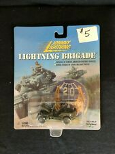 Johnny Lightning Lightning Brigade WWII Willys MB Scout Jeep & sticker