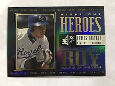 "CARLOS BELTRAN INSERT ""ROOKIE OF THE YR"" SPX 2000 ""HEROES"" BASEBALL CARD"