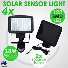 4x 120 LED Solar Light Motion Detection Sensor Security Garden Flood Lights