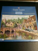 """Gibson 1000 Piece Jigsaw Puzzle - Castle Combe """"Complete"""""""