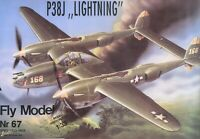 "ORIGINAL PAPER-CARD MODEL KIT - P38J ""LIGHTNING"""