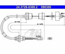 ATE Clutch Cable 24.3728-0300.2