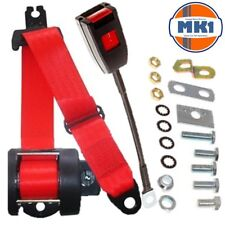 Volkswagen mk1 Golf GTI JETTA Hatchback Saloon Front Automatic Seatbelt Kit Red