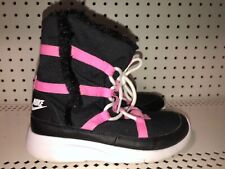 Nike Venture PS Girls Youth Insulated Winter Snow Boots Size 3Y Black Pink