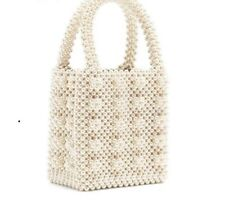 Pearls Bag Beaded Box Women's Party Vintage Handbags Totes Luxury Small Bags New
