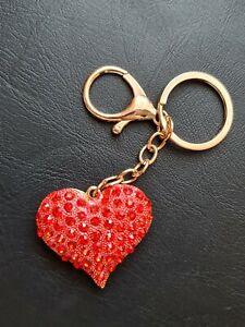 New Diamond Heart Keychain