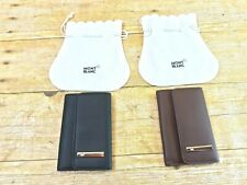 🎁NEW🎁 MONTBLANC LEATHER 6 RING KEYCHAIN CASE WALLET HOLDER BLACK OR BROWN