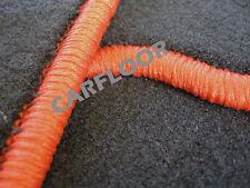 Fiat Palio Weekend Bj. ab 01.98 Fußmatten Velours schwarz mit Rand orange