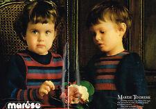 PUBLICITE ADVERTISING 104  1981  MARESE  les tricotés collection layette ( 2p)