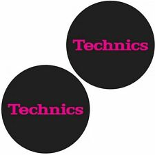 Technics Slipmat Simple Pink on Black