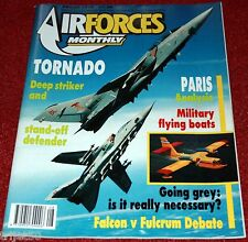 Air Forces Monthly 1989 August Tornado,Seaplanes