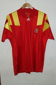ESPANA SPAIN VERY RARE FOOTBALL SHIRT 1992 - 1994 ADIDAS No7