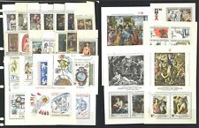 CZECHOSLOVAKIA 35 DIFFERENT MINT UNHINGED LARGE PAINTING STAMPS MUH