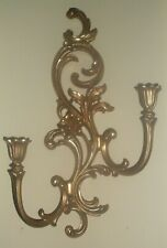 Home Interior Syroco Hollywood Regency Gold Wall Sconce R 4530 Roses Floral