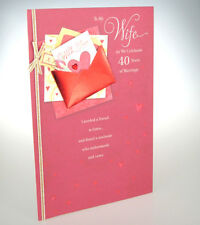 To My Wife As We Celebrate 40 Years of Marriage LARGE 40th Ruby Anniversary card