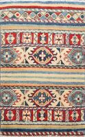 Geometric Super Kazak Patchwork Oriental Area Rug Wool Hand-Knotted 2'x3' Carpet