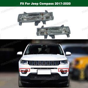 Pair Front Marker Signal Blinker Corner Parking Light For Jeep Compass 2017-2020