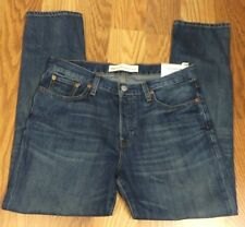 NWT Gap 1969 Blue Button Fly Relaxed Boyfriend Jeans  Size 28 31x28 PC685