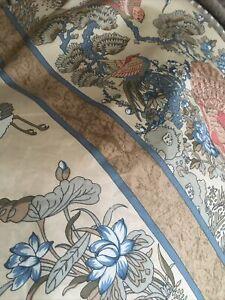 Vintage John Lewis Jonelle Fabric Curtains 1988 Cotton Forest Birds 56 X 80 Drop