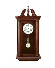 Bulova Manchester acabado en nogal Madera Maciza Reloj de Péndulo Chiming manto C4456