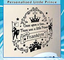 Personalized Little Prince Nursery Vinyl Wall Art Sticker Children Kids Decal 47