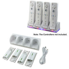 4 Rechargeable Batteries Charging Station Dock for Wii/Wii U Remote Controller