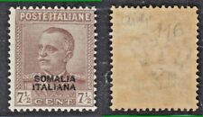 COLONIE SOMALIA 1928 FRANCOB D'ITALIA SOPRASTAMPATI n. 116 7½  MNH** FIRM