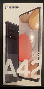 SIM Free Samsung Galaxy A42 6.6 Inch 128GB 48MP 5G Mobile Phone - Black
