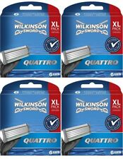 Wilkinson Sword Quattro Rasierklingen für Herren 4x 6er Pack 24 Stück Neu