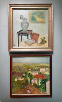 Vintage abstract oil paintings