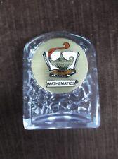 lamp mathematics insert trophy award clear acrylic