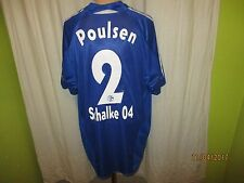 """FC Schalke 04 Adidas Trikot 2004/05 """"VICTORIA versichert"""" + Nr.2 Poulsen Gr.XL"""