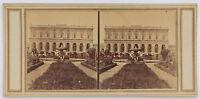 Italia Palais A Identificare Stereo Vintage Albumina Ca 1865