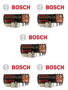 Set of (5) Bentley Continental Bosch Spark Plugs 02422256248RE 7913