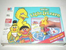 Sesame Street Light & Learn Game Milton Bradley w Magic Wand 1991 MIB Sealed