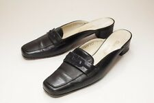 Salvatore Ferragamo 7 Black Mules Women's