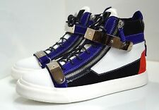 Giuseppe Zanotti Metallic Strap Leather High-top Baskets-SIZE 45 (EUR) - 11