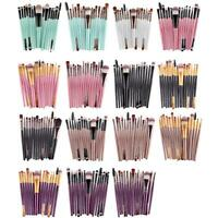 15X pinceaux de maquillage Pinceau blush Fond de teint Pinceau ombre à paupières