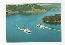 BC Ferries in Active Pass Canada 1974 Postcard 350a ^