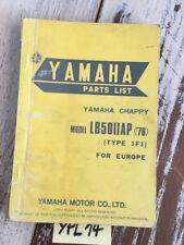 Yamaha Chappy LB50IIAP 1976 1F1 LB50 catalogue pièces détachées parts list moto