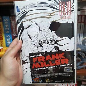 DARK KNIGHT III THE MASTER RACE #1 (2016) signed Frank Miller