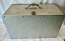 """Vintage 22"""" Nuttle Inc. Joplin Missouri Aluminum Tool Tender Two Sided Toolbox"""