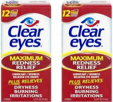 Clear Eyes Maximum Strength Redness Relief, 0.5 Fluid Ounce (2-Pack)