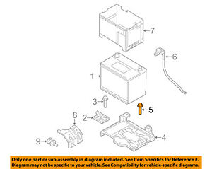 KIA OEM 11-15 Sorento 2.4L-L4-Battery Tray Bolt 1129008206B