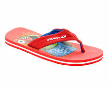 BOYS RED FLAT BEACH SUMMER HOLIDAY SLIP ON FLIP FLOP SANDALS MULES UK SIZE 13-5