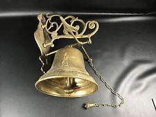 Ancienne cloche de porte d entrée EN LAITON