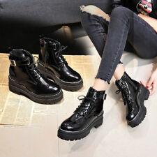 Women's British Shoes Punk Women's Gothic Platform Ankle Boots 2019
