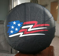 """Spare Tire Wheel Soft Cover With US Flag Logo For Jeep Toyota Ford 29"""" 30"""" 31"""""""