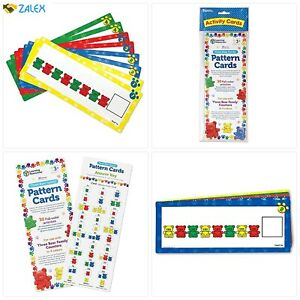 Learning Resources Three Bear Family Pattern Cards, Homeschool, Early Math Skill